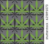 seamless pattern of cannabis... | Shutterstock .eps vector #625891073