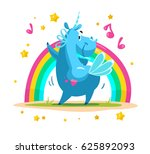 vector portrait of flat funny...   Shutterstock .eps vector #625892093