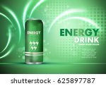 Energy Drink On Sparkly And...