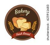 sticker emblem fresh bread... | Shutterstock .eps vector #625911683