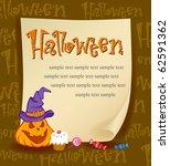 halloween  illustration for... | Shutterstock .eps vector #62591362
