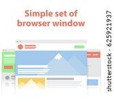 vector set of flat website... | Shutterstock .eps vector #625921937