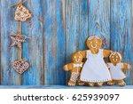 gingerbread  gingerbread men on ... | Shutterstock . vector #625939097