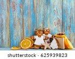 still life of gingerbread ... | Shutterstock . vector #625939823