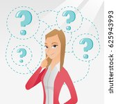 young caucasian business woman... | Shutterstock .eps vector #625943993