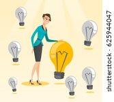 caucasian business woman having ... | Shutterstock .eps vector #625944047