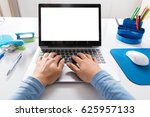 close up of a woman working on... | Shutterstock . vector #625957133