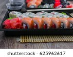 the sushi on the table in the... | Shutterstock . vector #625962617