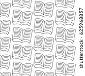 books in black and white... | Shutterstock .eps vector #625968857
