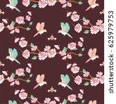 fruit tree blossom seamless... | Shutterstock .eps vector #625979753