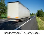 motion blurred white truck... | Shutterstock . vector #625990553