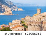 spain.  catalunya. tossa de mar.... | Shutterstock . vector #626006363