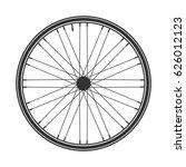 bicycle wheel symbol vector.... | Shutterstock .eps vector #626012123