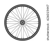 bicycle wheel symbol vector.... | Shutterstock .eps vector #626015447