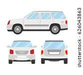 car vector template on white... | Shutterstock .eps vector #626043863