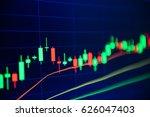 stock market chart stock market ... | Shutterstock . vector #626047403