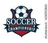 soccer championship logo | Shutterstock .eps vector #626052863