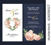 wedding invitation card | Shutterstock .eps vector #626058317