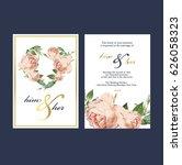wedding invitation card | Shutterstock .eps vector #626058323