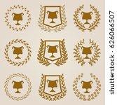 set of luxury golden champion... | Shutterstock .eps vector #626066507