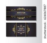 gold background flyer style... | Shutterstock .eps vector #626067887