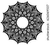 mandalas for coloring book.... | Shutterstock .eps vector #626069537