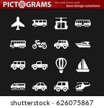 public transport icon set for... | Shutterstock .eps vector #626075867