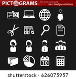 office vector icons for user... | Shutterstock .eps vector #626075957