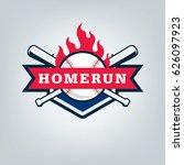 vector of baseball sport team... | Shutterstock .eps vector #626097923