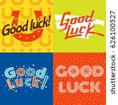 good luck text farewell vector... | Shutterstock .eps vector #626100527