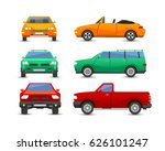 flat car vehicle type design... | Shutterstock .eps vector #626101247