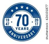 70 years anniversary logo... | Shutterstock .eps vector #626101877