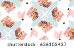 hand made abstract textured... | Shutterstock .eps vector #626103437