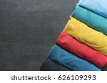 close up of rolled colorful... | Shutterstock . vector #626109293