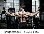 handsome power athletic man on... | Shutterstock . vector #626111453