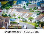 aerial view of a modern... | Shutterstock . vector #626123183