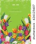 spring elegant card with...   Shutterstock .eps vector #626125607