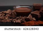 melting chocolate   melted... | Shutterstock . vector #626128343