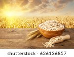 still life ears of oats and... | Shutterstock . vector #626136857