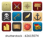 pirate icon set | Shutterstock .eps vector #62615074