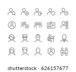simple set of users related... | Shutterstock .eps vector #626157677