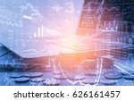 stock market or forex trading... | Shutterstock . vector #626161457