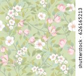 seamless pattern with floral... | Shutterstock .eps vector #626165213