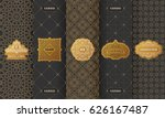 vector set of design elements... | Shutterstock .eps vector #626167487