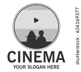 cinema theator logo   Shutterstock .eps vector #626169377