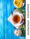 tea time | Shutterstock . vector #626169443
