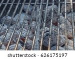 barbecue grillage with hot coal ... | Shutterstock . vector #626175197