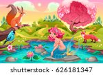 Fantasy Scene With Mermaid And...
