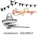cinco de mayo lettering.... | Shutterstock .eps vector #626188517