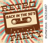 retro party poster design.... | Shutterstock .eps vector #626216687